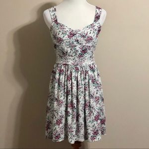 Flirty Floral Dress with Heart Back Cutout